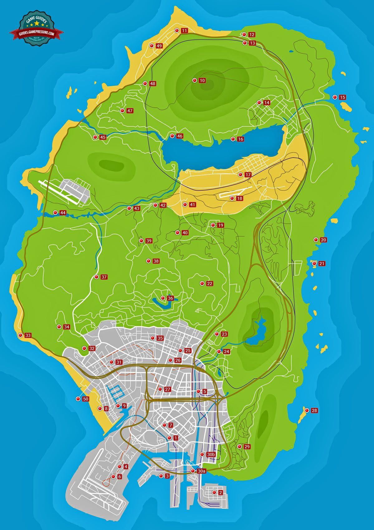 Карта GTA V - Письменные записки