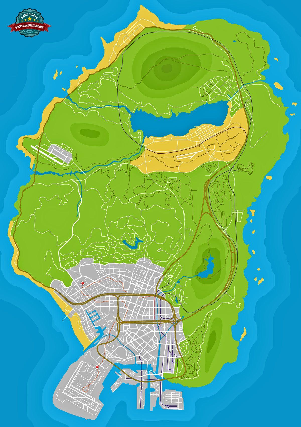 GTA V Map - Sports classics and Supercars