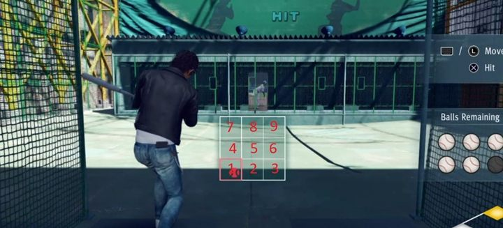 To hit the ball perfectly, you need to place the cursor in the appropriate field, which isnt easy to do - Yoshida Batting Center courses in Judgment - Side activities - Judgment Guide