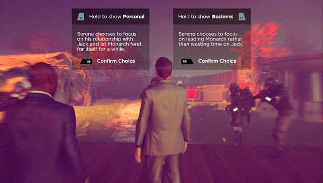 You can make conscious decisions while having a little sneak-peak into them. - Decisions and endings - Secrets - Quantum Break - Game Guide and Walkthrough