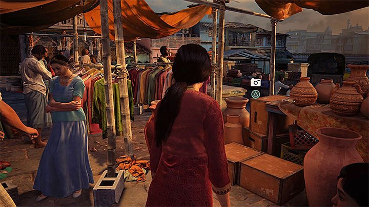 You can take this photo when you are going through the marketplace - 0 - Prologue | Secrets - Secrets - Uncharted: The Lost Legacy Game Guide