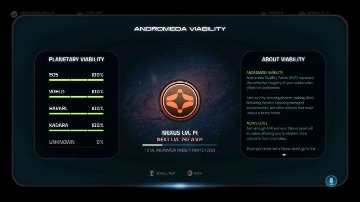 Жизнеспособность планеты можно проверить в игре.  - Жизнеспособность планеты |  Основы игрового процесса - Основы игрового процесса - Mass Effect: Руководство по игре Andromeda