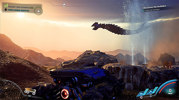 Архитектор из Кадара - Как победить Остатка Архитектора на Кадаре?     Босс борется    Прохождение - Битвы с боссами - Mass Effect: Руководство по игре Andromeda
