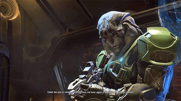 Кало является лидером пиратов, которые захватили космический корабль Кетт. Как победить Кало на космическом корабле Кетт?  |  Босс борется |  Прохождение - Битвы с боссами - Mass Effect: Руководство по игре Andromeda