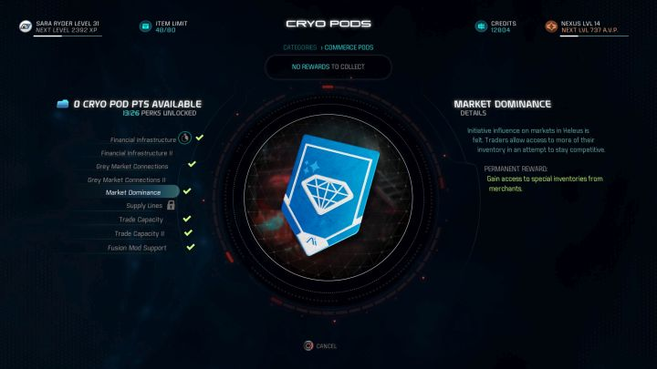 Andromeda Viability is a mechanic closely linked to the number of cryo capsules that can be opened. - Andromeda viability | Gameplay basics - Gameplay basics - Mass Effect: Andromeda Game Guide