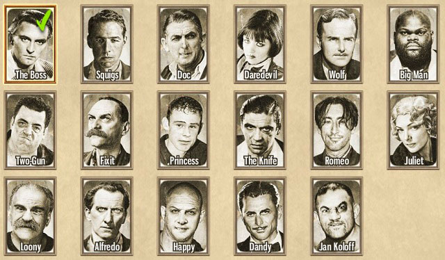 The game gives you 16 (17 in the special edition) characters to use at your disposal. - Gangsters - Tactics - Omerta: City of Gangsters - Game Guide and Walkthrough