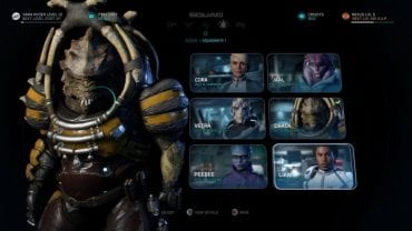 Party selection screen. - How to change active party members in Mass Effect: Andromeda? - FAQ - Frequently asked questions - Mass Effect: Andromeda Game Guide