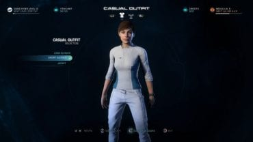 Outfit selection screen. - How to change the look of your character in Mass Effect: Andromeda? - FAQ - Frequently asked questions - Mass Effect: Andromeda Game Guide