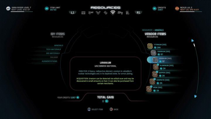 Crafting materials can cost huge amount of Credits. - How to get crafting materials in Mass Effect: Andromeda? - FAQ - Frequently asked questions - Mass Effect: Andromeda Game Guide