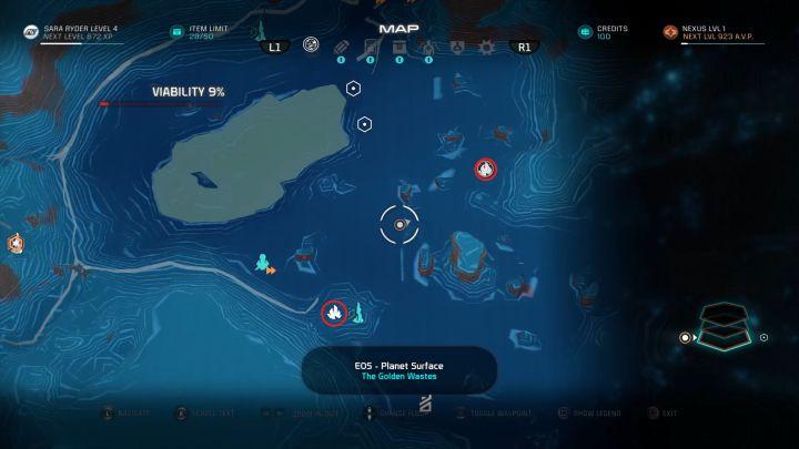 Два из многочисленных месторождений полезных ископаемых.  - Как собирать ресурсы с помощью NOMAD в Mass Effect: Andromeda?  - FAQ - Часто задаваемые вопросы - Mass Effect: Руководство по игре Andromeda