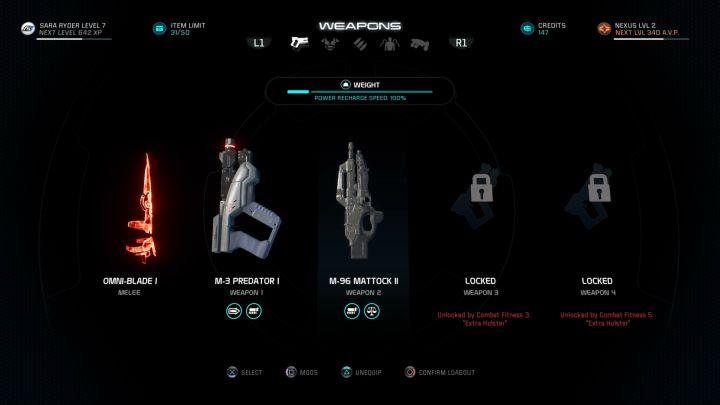 Оптимальный вес позволяет нам чаще использовать силы персонажей - Как влияет вес предметов в Mass Effect: Andromeda?  - FAQ - Часто задаваемые вопросы - Mass Effect: Руководство по игре Andromeda