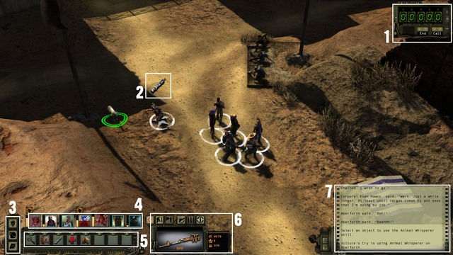 1 - The interface | The basics of the gameplay - The basics of the gameplay - Wasteland 2 Game Guide & Walkthrough
