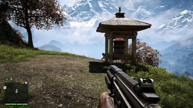 Heading south from Tirtha (along the stream), you will reach a path, at the end of which you will find the wheel - Southern and central Kyrat - Mani Wheels - Far Cry 4 - Game Guide and Walkthrough