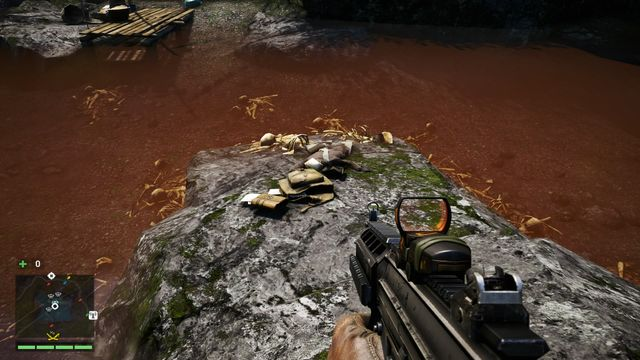 You will find the bag in the middle of the lagoon - Southern and central Kyrat - Lost Letters - Far Cry 4 - Game Guide and Walkthrough