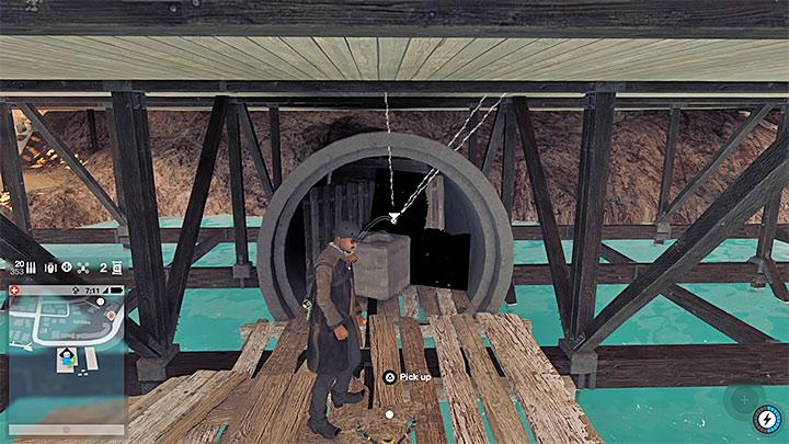 Вы должны добраться до этой большой трубы, показанной выше - Точки исследования - карта, локации 1-61 - Коллекционирование - Руководство по игре Watch Dogs 2