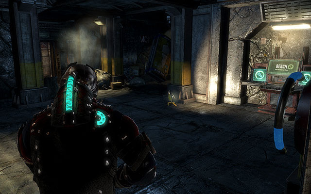 Now go to the next corridor, where youll find the elevator - Investigate the warehouses secrets | Co-op missions: Archeology - Co-op missions: Archeology - Dead Space 3 Game Guide