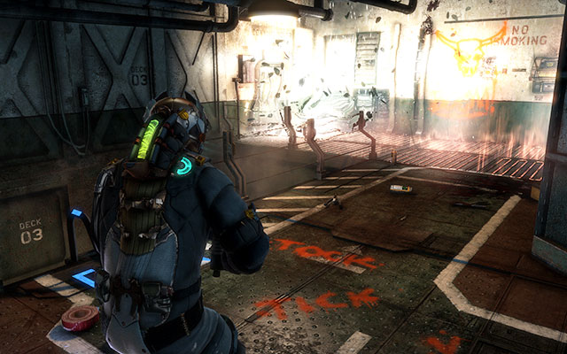 Move further, until you get to the room with a ladder - there are lockers on the right - Disable Edwards traps   Side missions: Conning Tower - Side missions: Conning Tower - Dead Space 3 Game Guide
