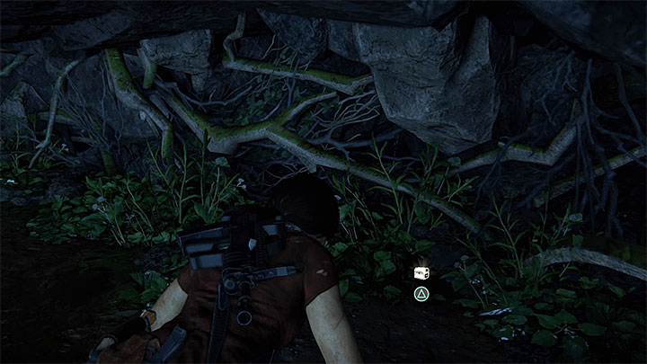 The treasure is in the same part of the cave as the previous one, but you will have to take several jumps over small ledges and reach the narrow opening shown in screenshot 1 - Secrets in The Gatekeeper chapter | Secrets - Secrets - Uncharted: The Lost Legacy Game Guide