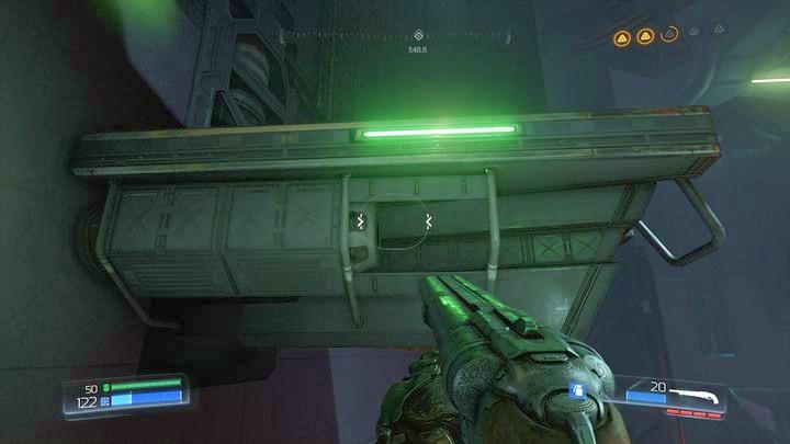 Теперь воспользуйтесь одним из тротуаров, чтобы подняться чуть выше - Argent Energy Tower |  Секреты - Секреты - Руководство по игре в Doom и прохождение