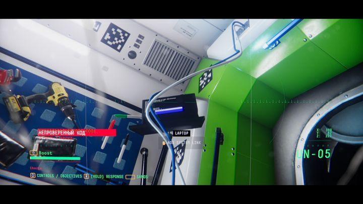 Идите дальше по коридору и поверните налево, вы окажетесь на RUS-01 - VII.  Джим Элиас    Прохождение Наблюдения - Прохождение - Руководство по Наблюдению