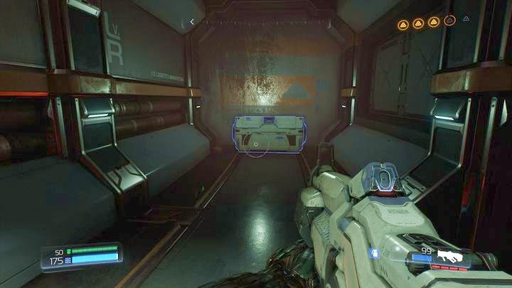 Аргентинская ячейка находится в комнате, где вы активируете дронов, которые перенесут вас на верхний этаж башни - Серебряная энергетическая башня |  Секреты - Секреты - Руководство по игре в Doom и прохождение