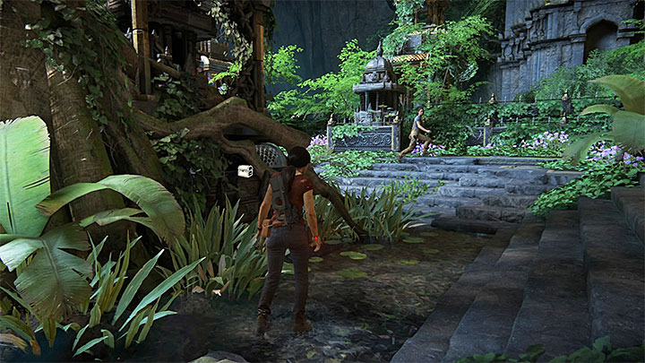 You can find this treasure after you have reached the location with Ganeshas statue and stairs shown in screenshot 1 - 7. The Lost Legacy | All Secrets - Secrets - Uncharted: The Lost Legacy Game Guide