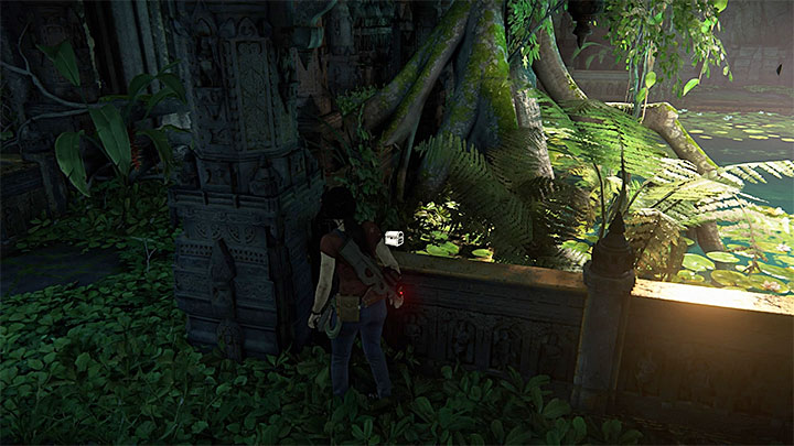 You can find this treasure in the location with rectangular water reservoir and enemies blowing up the passage to the next location - 7. The Lost Legacy | All Secrets - Secrets - Uncharted: The Lost Legacy Game Guide