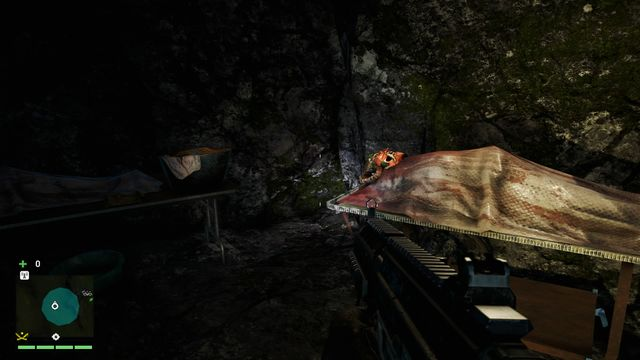 In the hospital (inside the cave), on the face of one of the dead patients - Southern and central Kyrat - Yalungas Masks - Far Cry 4 - Game Guide and Walkthrough
