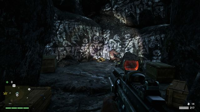 The bag is located at the end of the small cave - Southern and central Kyrat - Lost Letters - Far Cry 4 - Game Guide and Walkthrough