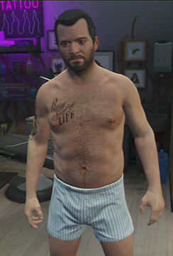Michael decides to immortalize his love to whisky. - Tattoo Parlors - Shopping - Grand Theft Auto V Game Guide