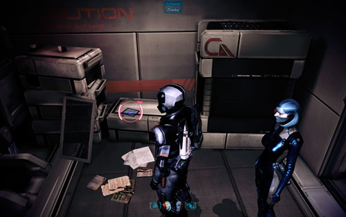 Terminal [1250 credits] -in the mineral works , In the room leading up to the crew's quarters, at the wall - Mahavid - Walkthrough - Mass Effect 3: Leviathan - Game Guide and Walkthrough