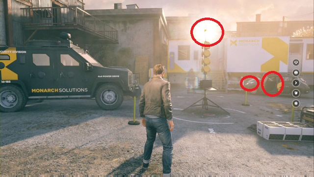 Секрет находится над желтым устройством - Chronon Sources (act II) - Секреты - Quantum Break - Руководство по игре и прохождение игры