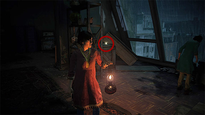 You can get the last treasure shortly after reaching the warehouse at the attic which happens during the last part of the stage - 2 - Infiltration | Secrets - Secrets - Uncharted: The Lost Legacy Game Guide