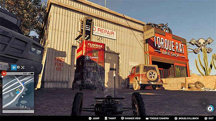 Search for a forklift parked near the building, and take it over - Key data - locations from 1 to 12 - Collectibles - Watch Dogs 2 Game Guide
