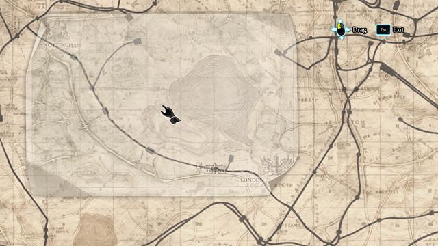Теперь вам нужно положить маленькую карту на большую карту из чемодана, чтобы совпали картинки - Эксперимент с поддельным поездом - Загадка на рельсах - Шерлок Холмс: Преступления и наказания - Руководство по игре и прохождение игры