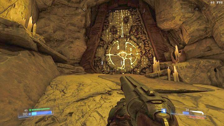 Первое бревно - это кристалл, который светится зеленым - Kadingir Sanctum |  Секреты - Секреты - Руководство по игре в Doom и прохождение