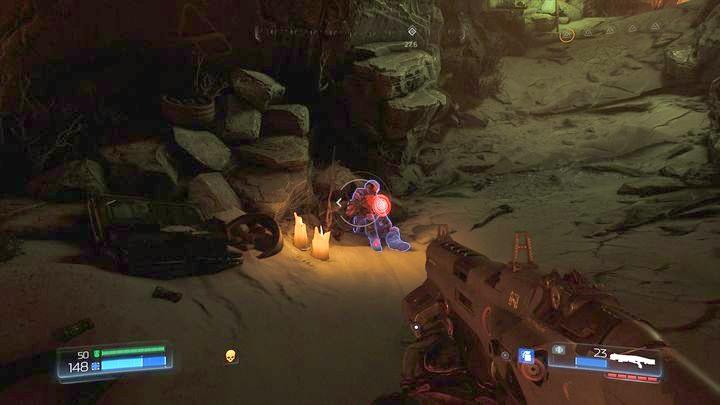 За дверью, открытой с желтым черепом, вы найдете охранника - Kadingir Sanctum |  Секреты - Секреты - Руководство по игре в Doom и прохождение