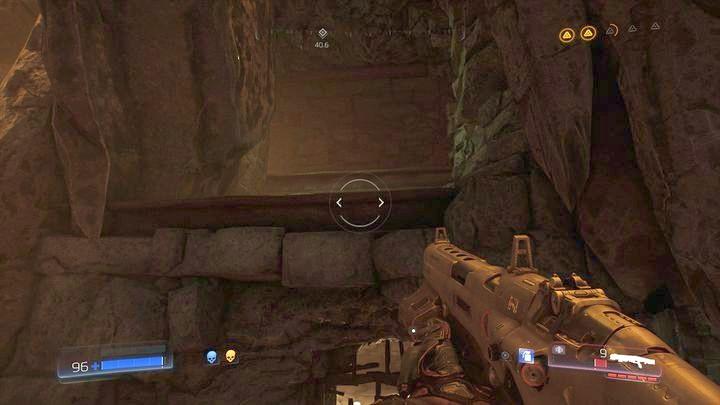 Прыгайте по ней и оттуда на уступ слева - Кадингирский заповедник |  Секреты - Секреты - Руководство по игре в Doom и прохождение