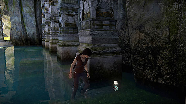 The treasure is in the flooded chamber where you have taken the above photo - 7. The Lost Legacy | All Secrets - Secrets - Uncharted: The Lost Legacy Game Guide