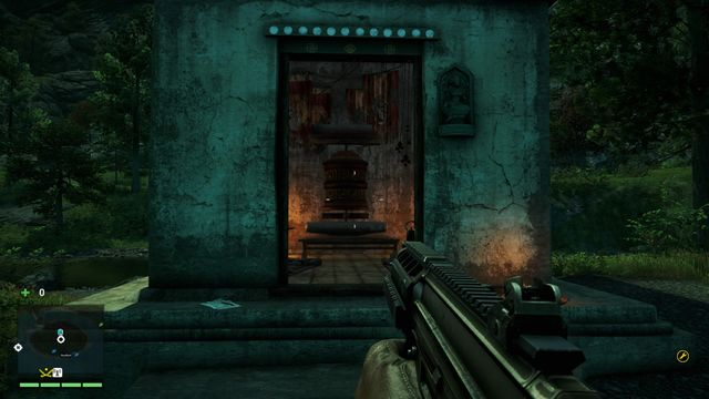 You will find the wheel inside a small shrine - Southern and central Kyrat - Mani Wheels - Far Cry 4 - Game Guide and Walkthrough