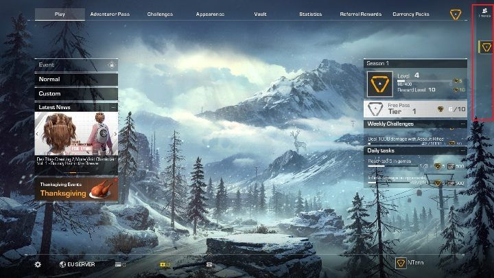 To invite friends, move the cursor on the Friends icon (right side of the screen) - Can you play in two-person teams in Ring of Elysium? - FAQ - Ring of Elysium Guide and Tips