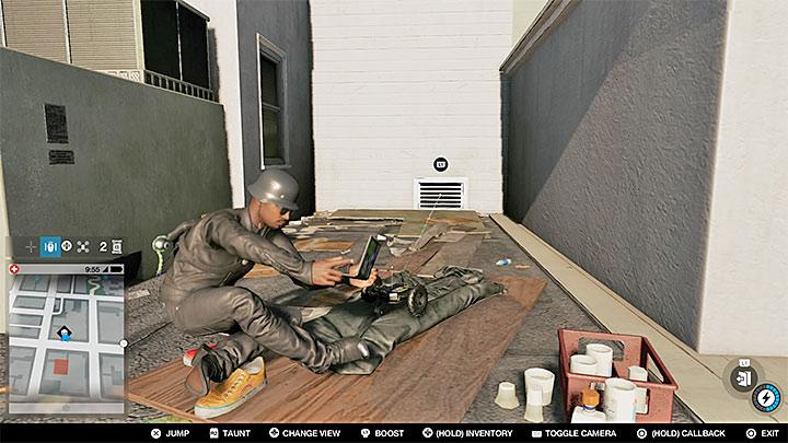 Запрыгните на соседнюю крышу и найдите вентиляционную шахту, показанную выше - Точки исследования - карта, локации 1-61 - Коллекционирование - Руководство по игре Watch Dogs 2