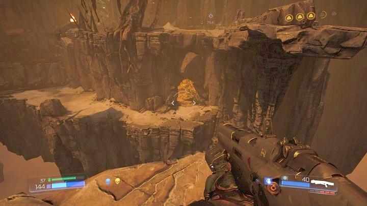 Обернитесь и посмотрите вниз, найдя четвертого Элитного Стража - Kadingir Sanctum |  Секреты - Секреты - Руководство по игре в Doom и прохождение
