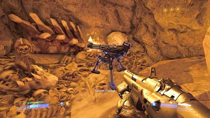 Внутри спрятано новое оружие - пулемет - Kadingir Sanctum |  Секреты - Секреты - Руководство по игре в Doom и прохождение