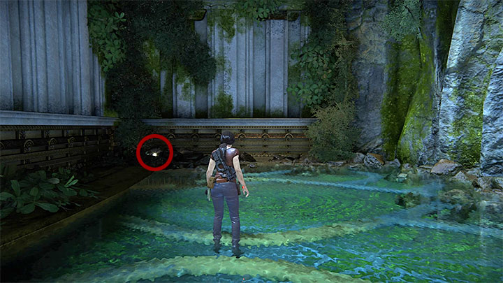 Go right of the last treasure (to the right of the Shiva statue) - 7. The Lost Legacy | All Secrets - Secrets - Uncharted: The Lost Legacy Game Guide