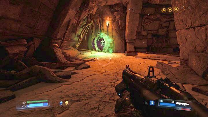 После осмотра автомата вы должны перейти к противоположному концу карты - Kadingir Sanctum |  Секреты - Секреты - Руководство по игре в Doom и прохождение