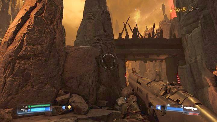 Начните подниматься по лестнице после завершения второго испытания руны - Kadingir Sanctum |  Секреты - Секреты - Руководство по игре в Doom и прохождение