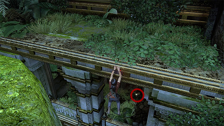 You can find this treasure right after you use Shivas upper hand to reach the ruins on the left - 7. The Lost Legacy | All Secrets - Secrets - Uncharted: The Lost Legacy Game Guide
