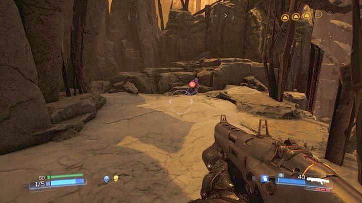 Справа вы найдете Элитного Стража, а слева два Журнала Данных (один в форме рунического камня) - Kadingir Sanctum |  Секреты - Секреты - Руководство по игре в Doom и прохождение