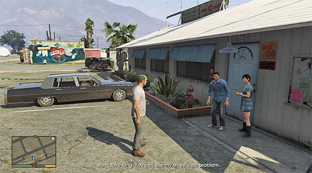 Approach the marked characters and listen to the short conversation - Drunk driver (1-2) - Random events - Grand Theft Auto V Game Guide